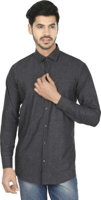 Perky Look Men's Solid Casual Grey Shirt