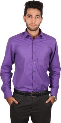 Styllus Men's Solid Formal Purple Shirt