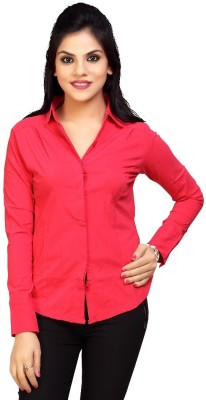 Carrel Women's Solid Formal Red Shirt