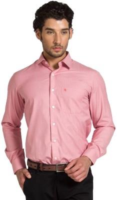 Klub Fox Men's Solid Formal Red Shirt