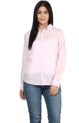 Mayra Women's Solid Formal Pink Shirt at flipkart