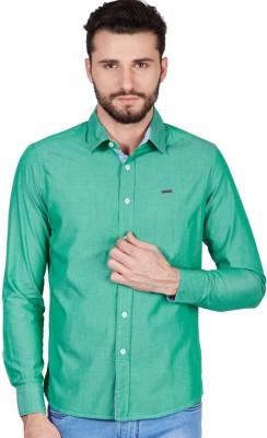 American Swan Men's Solid Casual Green Shirt