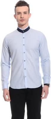 Bolt Men's Solid Casual Blue Shirt