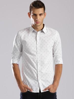 HRX by Hrithik Roshan Men's Self Design Casual White Shirt