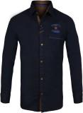 Jazzup Boys Printed Casual Blue Shirt