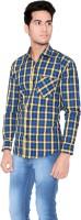 Creative Fashion Formal Shirts (Men's) - Creative Fashion Men's Printed Formal Blue Shirt