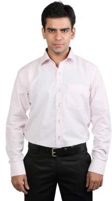 Basil Men's Printed Casual Pink Shirt