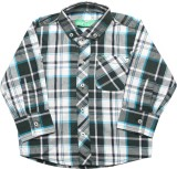 Palm Tree Baby Boys Checkered Casual Mul...