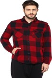 PUNK Men's Checkered Casual Red Shirt