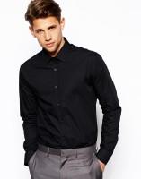 Daddu Enterprises Formal Shirts (Men's) - Daddu Enterprises Men's Solid Formal Black Shirt