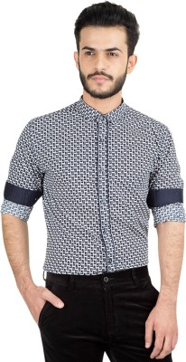 British Club Men's Printed Casual Black Shirt