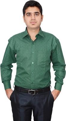 Indocity Men's Solid Formal Green, Green Shirt