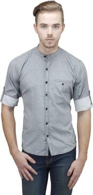 Unixx Men's Solid Casual, Formal Grey Shirt