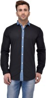 Salwarsaloon Formal Shirts (Men's) - SalwarSaloon Men's Solid Formal Black, Light Blue Shirt