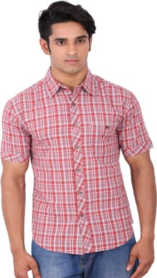 Rat Trap Men's Checkered Casual Red, White Shirt
