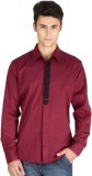 I Know Men's Solid Casual Maroon Shirt