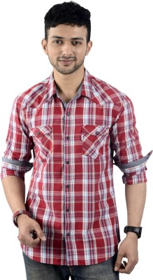 St. Germain Men's Checkered Casual Multicolor Shirt
