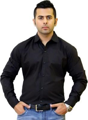 Togsun Men's Solid Formal Black Shirt