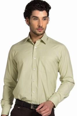 Klub Fox Men's Solid Formal Beige Shirt