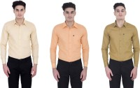 London Looks Formal Shirts (Men's) - London Looks Men's Solid Formal Multicolor Shirt(Pack of 3)