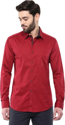 Cairon Men's Solid Party Red Shirt