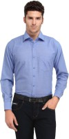 Ausy Formal Shirts (Men's) - Ausy Men's Solid Formal Blue Shirt