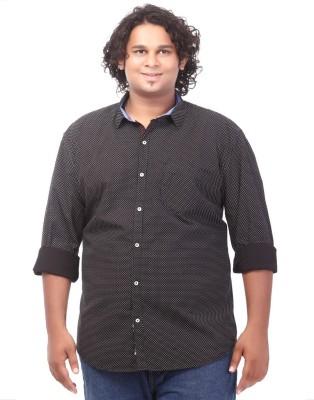 Ciroco Men's Polka Print Casual Black Shirt