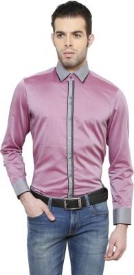 RICHARD COLE Men's Solid Formal Pink Shirt