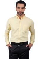 Solemio Formal Shirts (Men's) - Solemio Men's Solid Formal Yellow Shirt