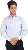 Jhampstead Formal Shirts (Men's) - Jhampstead Men's Solid Formal Blue Shirt