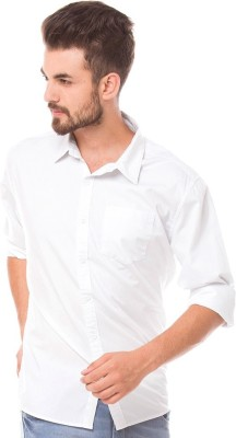 Trewfin Men's Solid Casual White Shirt