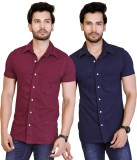 LUCfashion Men's Solid Casual Maroon, Bl...