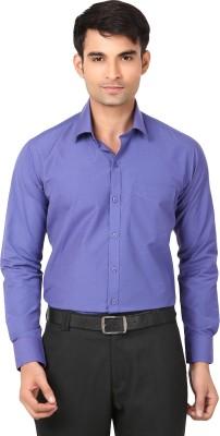 VAPE Men's Solid Casual Purple Shirt