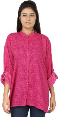 Chic Fashion Women's Printed Casual Pink Shirt