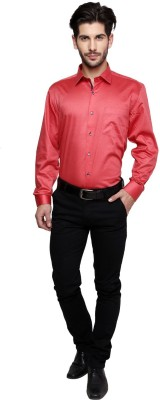 Miche Jeffer Men's Printed Casual Red, Pink Shirt