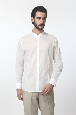 Yell Men's Solid Formal, Casual, Festive White Shirt