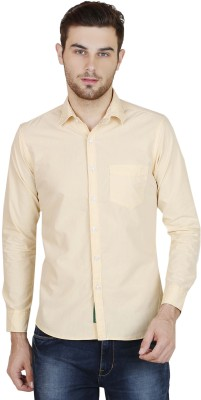 BlackRooster Men's Solid Casual Yellow Shirt