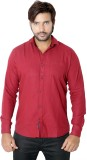 Red Touch Men's Printed Casual Red Shirt