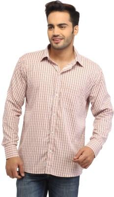 Pede Milan Men's Checkered Casual Orange Shirt
