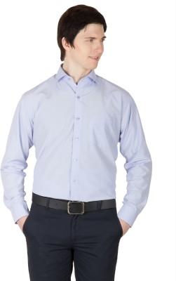 Robin Rider Men's Solid Formal Blue Shirt