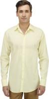 Haltung Formal Shirts (Men's) - Haltung Men's Solid Formal Yellow Shirt