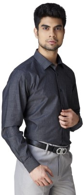 Warewell Men's Solid Formal Black Shirt