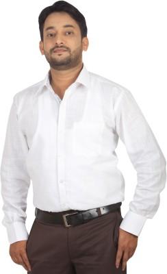 Modo Vivendi Men's Solid Casual White Shirt