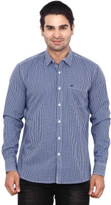 ANDY TRENDZ Men's Checkered Casual Blue Shirt