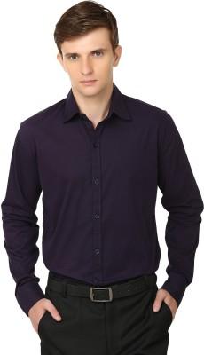 Alan Woods Men's Solid Casual Purple Shirt