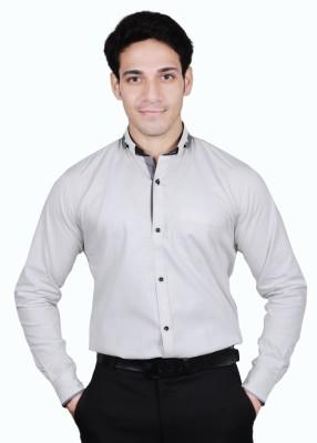 The Mods Men's Polka Print Casual White, Black Shirt