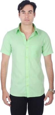 Darzii Men's Solid Casual Light Green Shirt