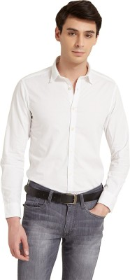 Flying Machine Men's Solid Casual White Shirt