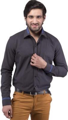 Tag & Trend Men's Solid Formal Grey Shirt