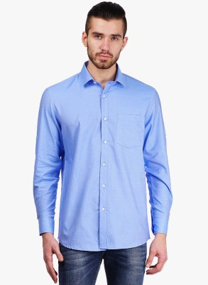 Erza Men's Solid Casual Light Blue Shirt